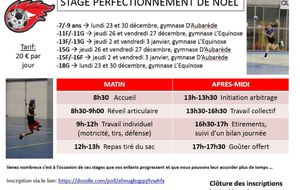 Stage de perfectionnement Noël 2019