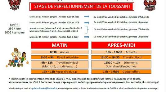 Stage de perfectionnement de la TOUSSAINT